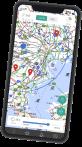 ピンポイント雷・気象情報アプリスマートフォンの画像